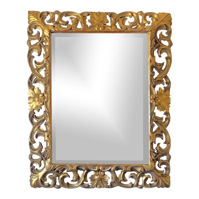 Antique Italian Gold Framed Mirror For Sale