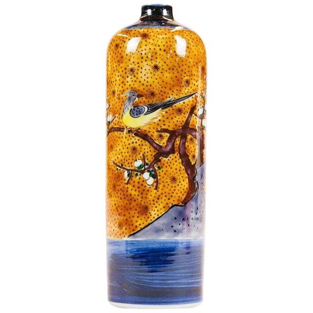 Lawrence & Scott Japanese Kutani Bird Vase For Sale