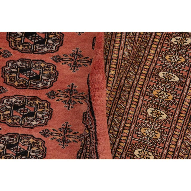 Metal Bokara Arya Leon Rose & Black Wool Rug - 9'4 X 11'11 For Sale - Image 7 of 9