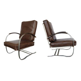 Wolfgang Hoffmann Springer Chair for Howell - A Pair For Sale