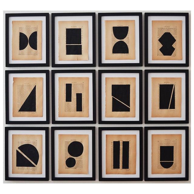 Josh Young Design House Noir Géométrique Collection Paintings, 12 Pieces For Sale In Washington DC - Image 6 of 6