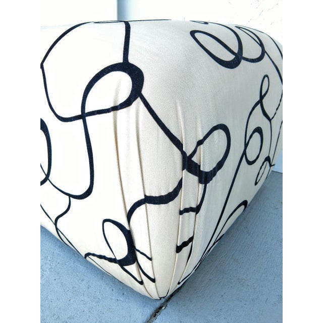 Mid 20th Century Pouf Ottomans, a Pair, Newly Re-Upholstered, Vintage For Sale - Image 5 of 8