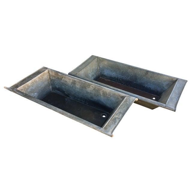 Vintage Zink Basins - A Pair - Image 1 of 7