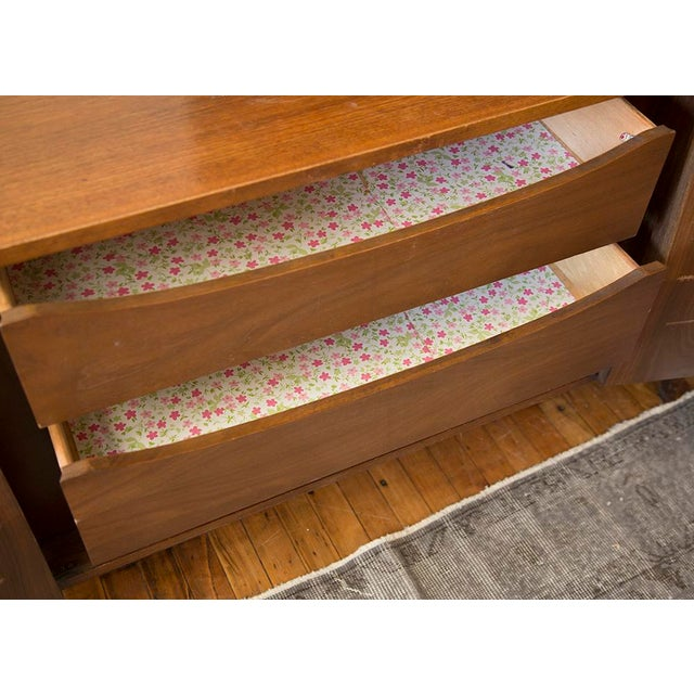 American of Martinsville Walnut Diamond Front Dresser - Image 8 of 10