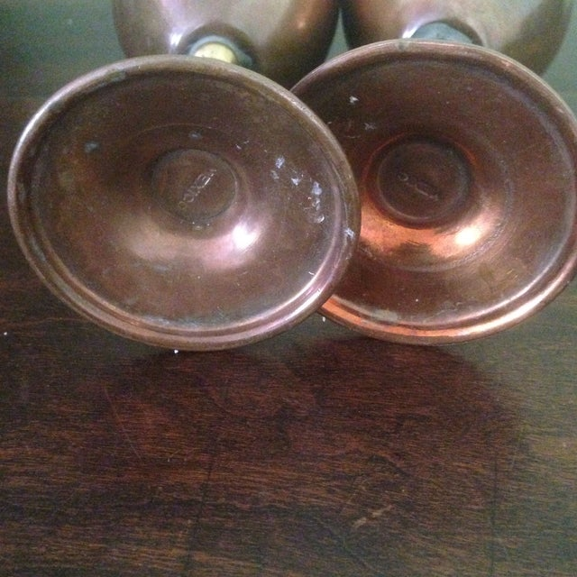 Copper & Brass Goblets - a Pair - Image 6 of 11