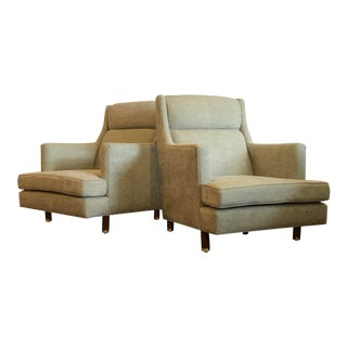 Mid Century Modern Edward Wormley for Dunbar Lounge Chairs- A Pair For Sale