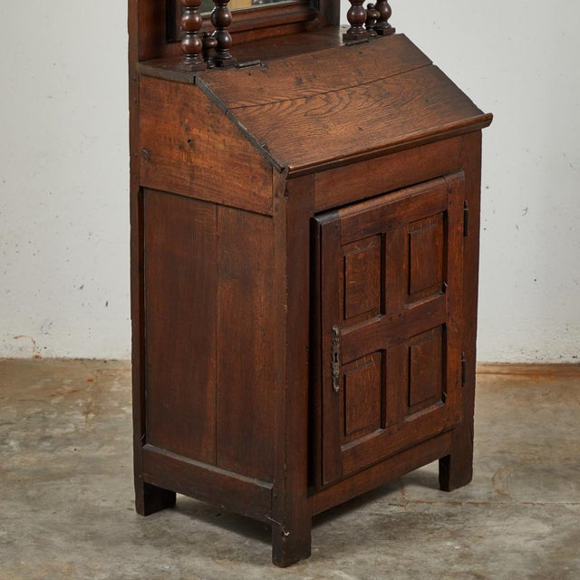 Early 18th Century French Petite Bureau Secretaire Desk With Projecting Cabinet For Sale - Image 4 of 7