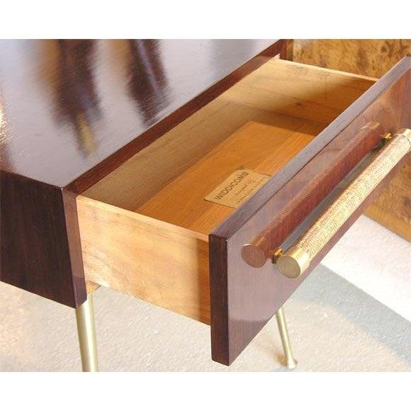 Mid-Century Modern Glove Box Nightstands by T.H. Robsjohn-Gibbings for Widdicomb For Sale - Image 3 of 8