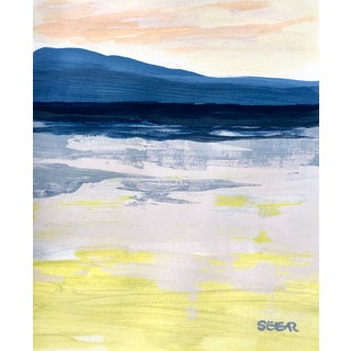 "Contemporary Landscape ""Ocean Color Study Ii"" Painting by Angela Seear, Small For Sale"