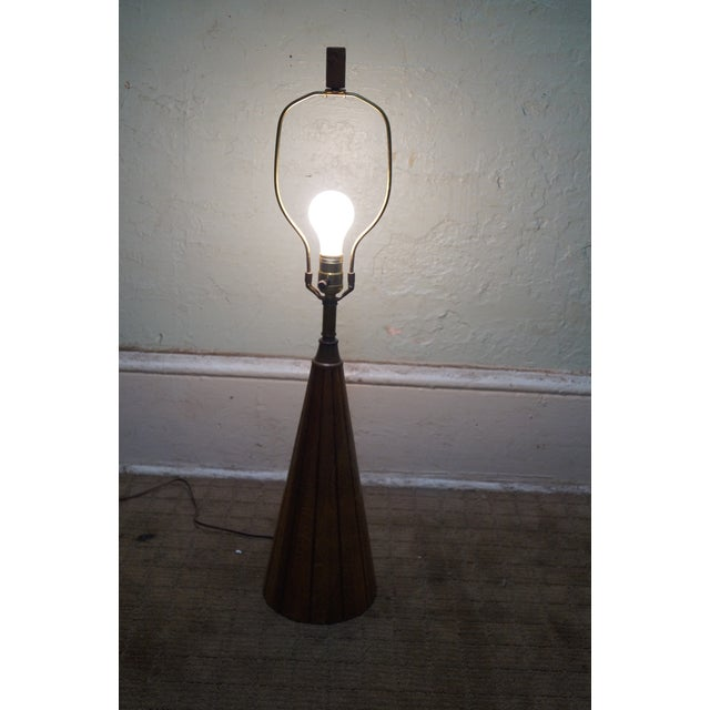 Brandt Ranch Oak Cone Shaped Table Lamp - Image 2 of 10