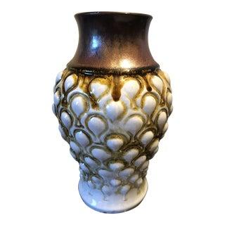 Carstens Tonnieshof West Germany Pottery Lava Drip Glaze Vessel For Sale