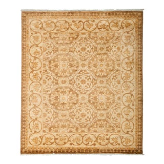 "Turkish Oushak Hand Knotted Area Rug - 4' 2"" X 4' 9"""