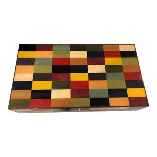 Modern Colorblocked Backgammon Board For Sale