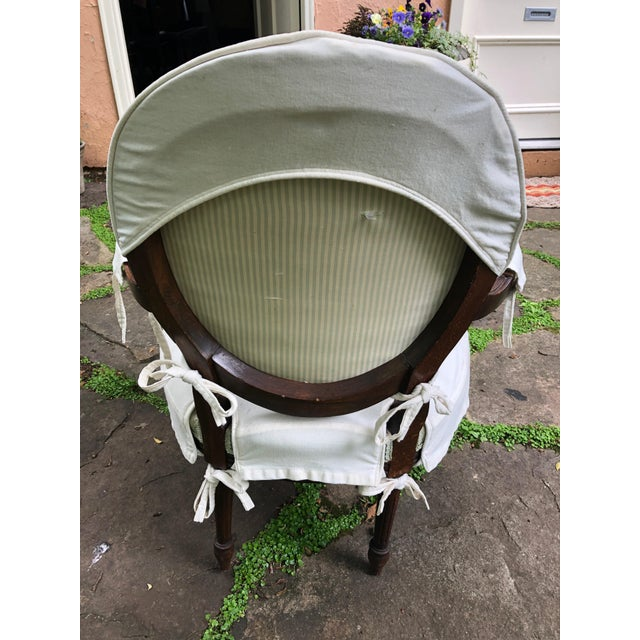 Carved Walnut and Upholstered French Armchair Bergere For Sale In Philadelphia - Image 6 of 13