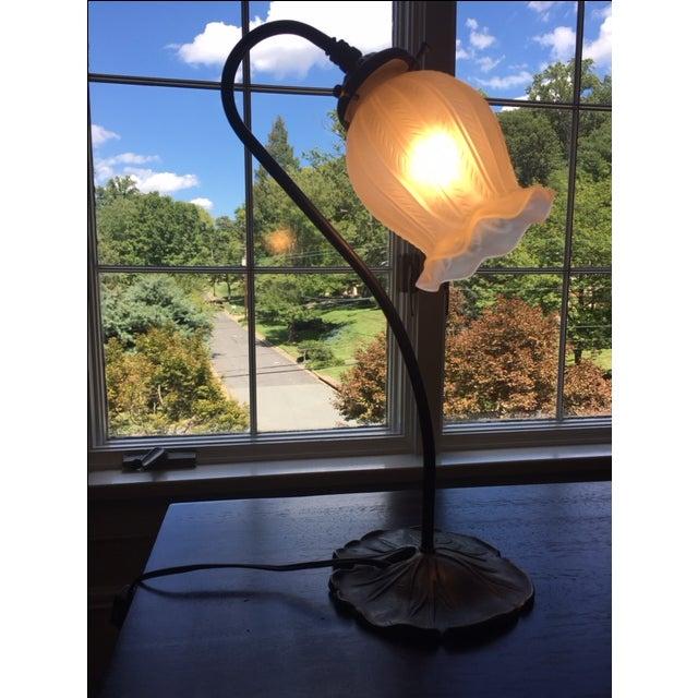 Vintage Antique Bronze Lamp - Image 3 of 4