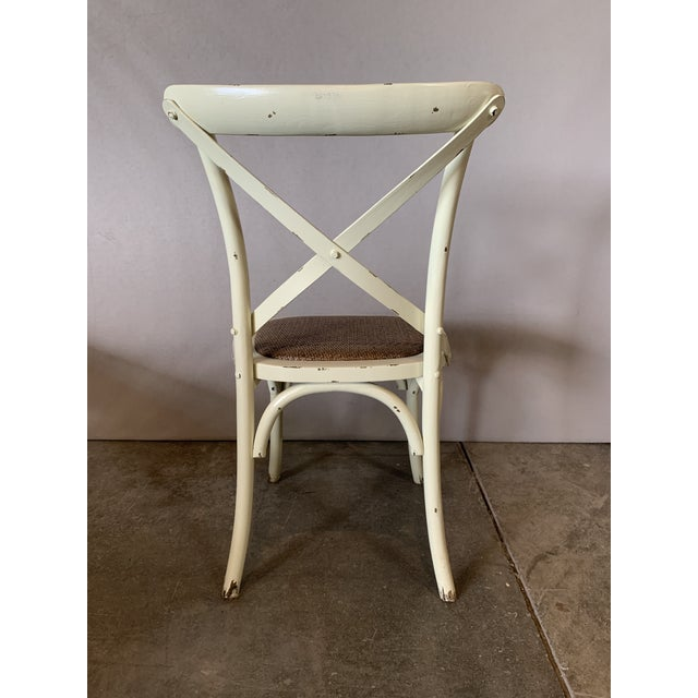 Country Cross Back Braided Seat Chair For Sale - Image 4 of 5