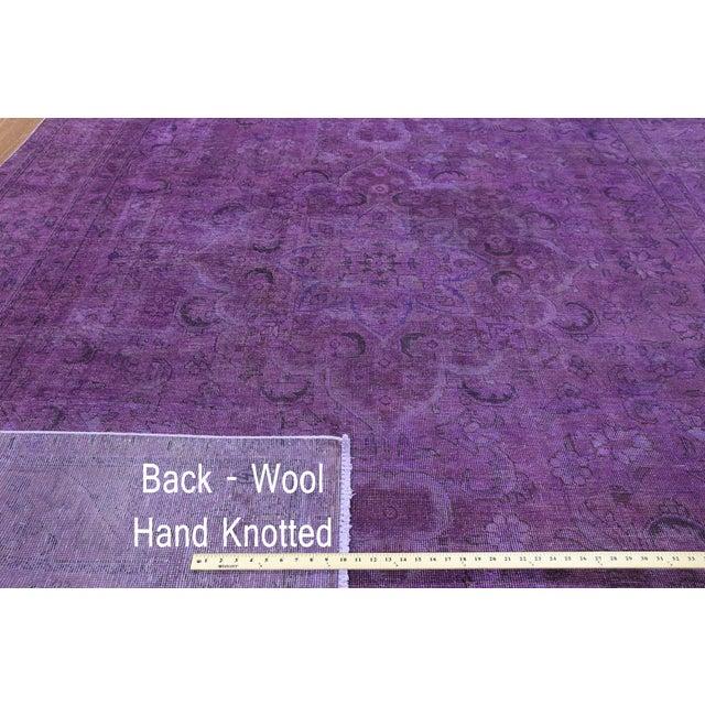 "Purple Overdyed Rug - 8'1 x 11'5"" - Image 4 of 6"