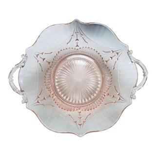 Lancaster Glass Pink Serving Bowl For Sale