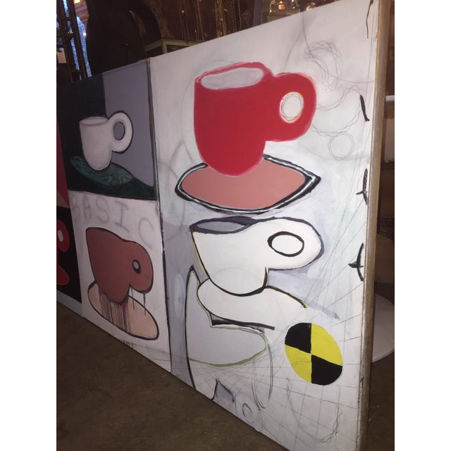 Original Pop Art Coffee Cups Painting by California Artist Casey O'Connor For Sale - Image 5 of 11