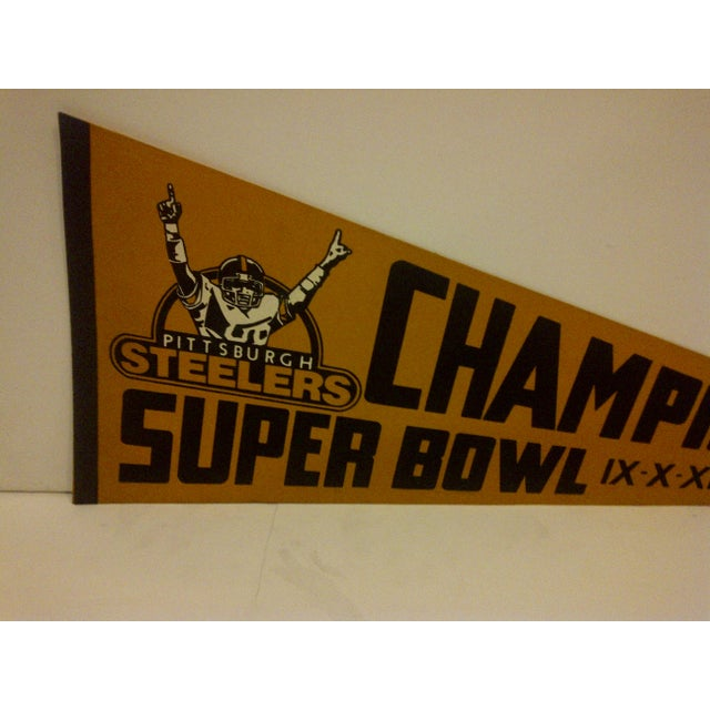 1980 Vintage NFL Pittsburgh Steelers Super Bowl Champions Team Pennant - Image 3 of 5