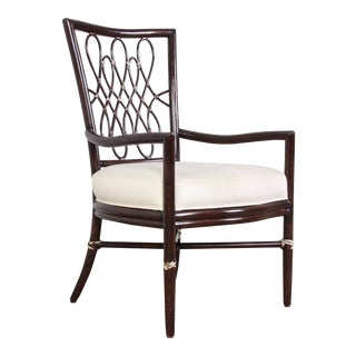 Barbara Barry for McGuire Arm Chair For Sale