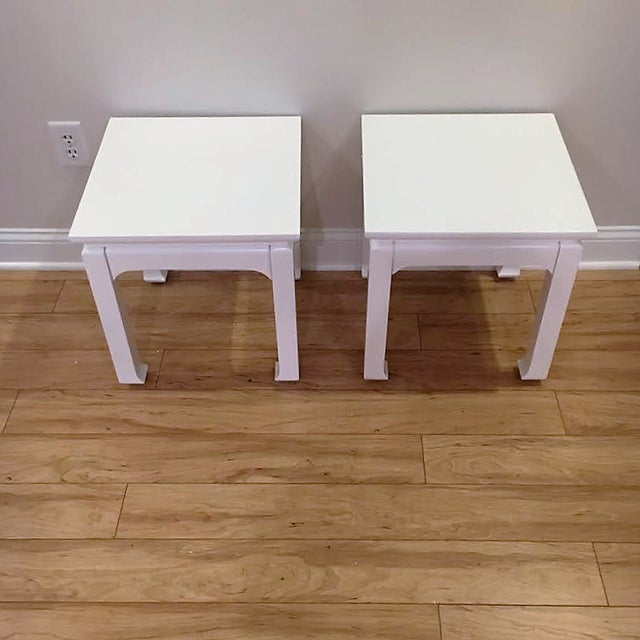 White Lacquered Tea Tables - A Pair - Image 2 of 4