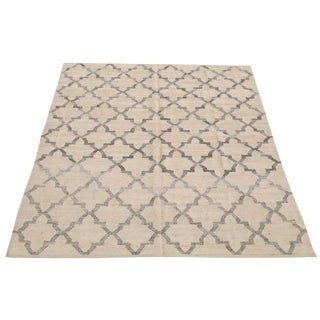 Modern Turkish Geometric Modern Flatweave Kilim - 7′11″ × 10′3″ For Sale