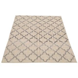 Modern Turkish Transitional Wool Flatweave Kilim - 7′11″ × 10′3″ For Sale