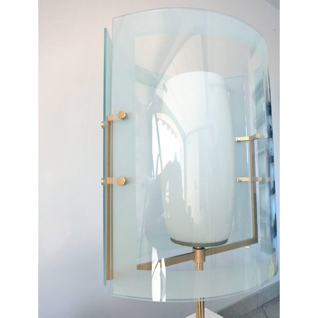 1960s Italian Beveled Table Lamp For Sale - Image 5 of 8