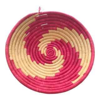 Vibrant Pink African Basket For Sale