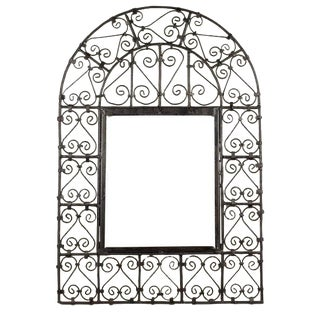 Open Wrought Iron Window Grill For Sale