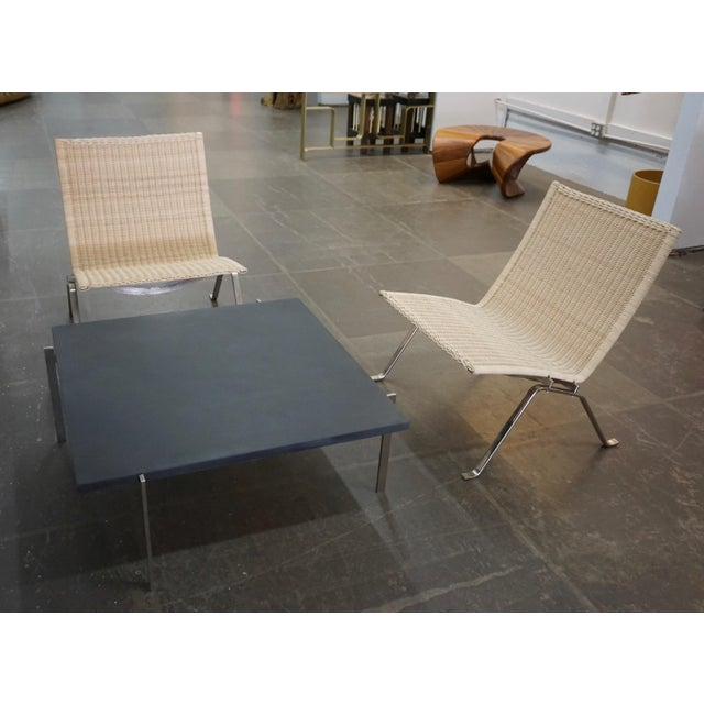 Wicker Poul Kjaerholm Pk22 Chairs for E.Kold Christiansen - a Pair For Sale - Image 7 of 10