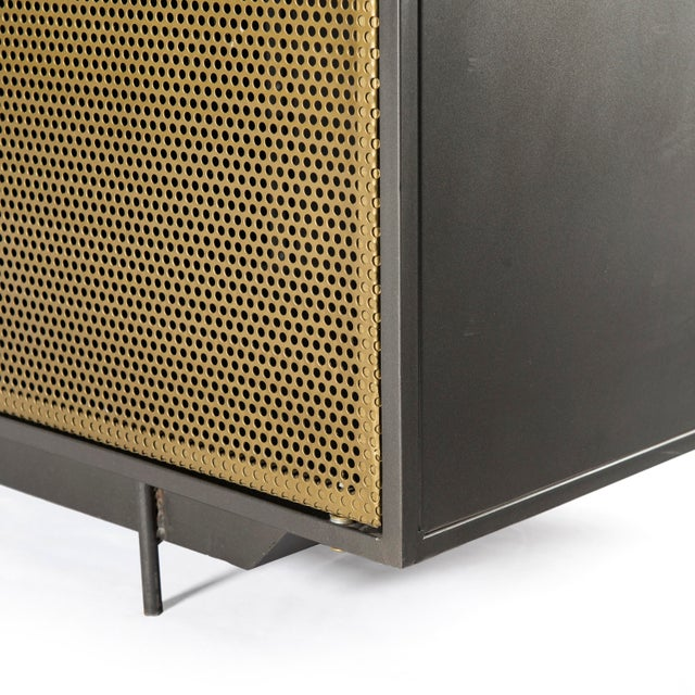 Gold Industrial Erdos + Ko Henry Media Console For Sale - Image 8 of 10