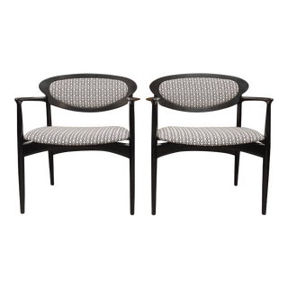 Pair of Danish Armchairs for Selig For Sale