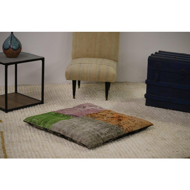 Modern Patchwork Floor Pillow For Sale - Image 4 of 4