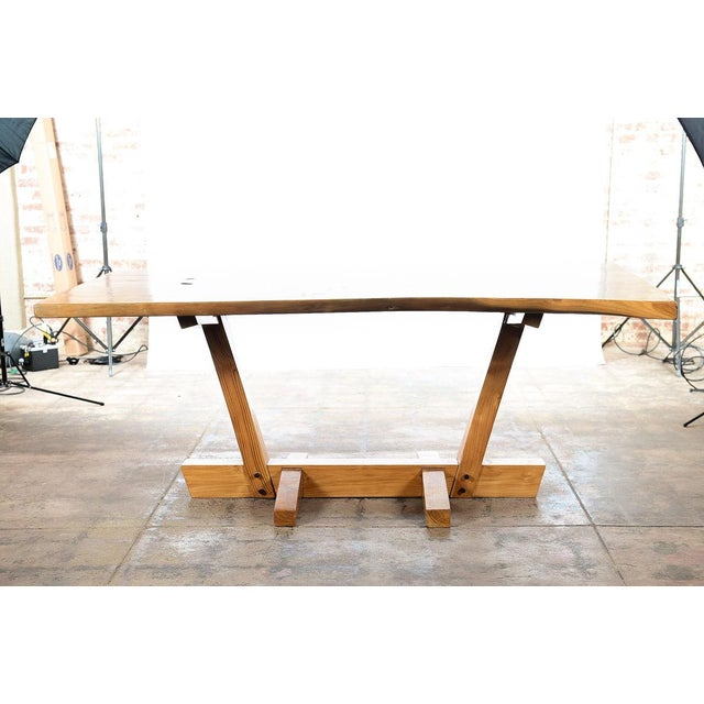 I am offering an Conoid Dining Table in the style of George Nakashima—rare! Dimensions: 32 high, 45 deep, 78 long...