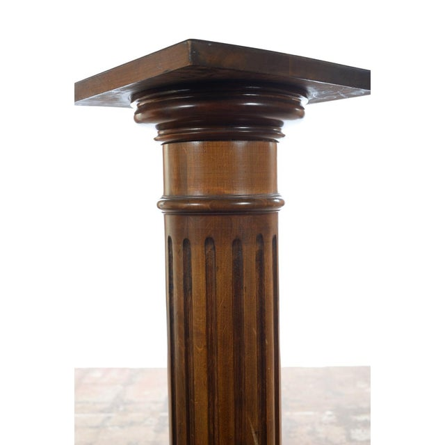 Antique Carved Colonial Walnut Pillar Pedestal - Image 3 of 10