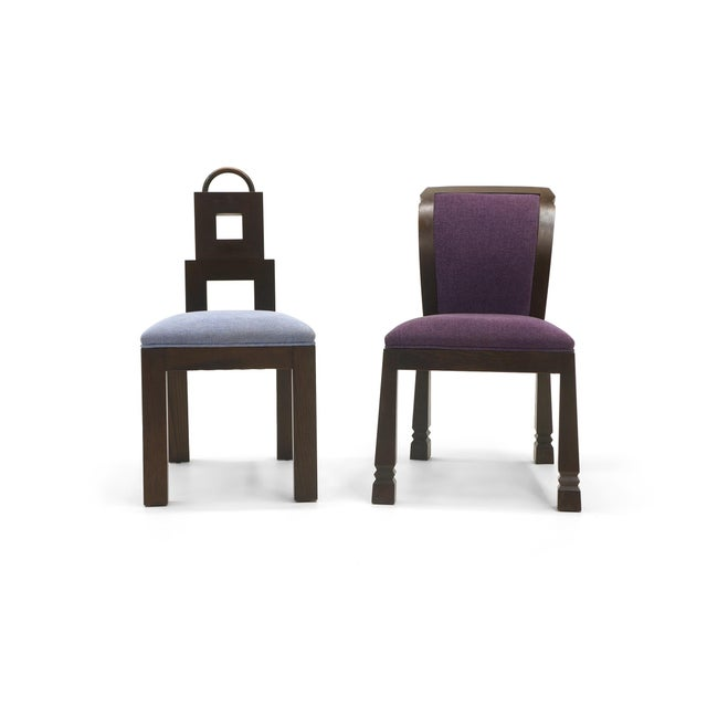 Wendell Castle Chairs. Price is per chair. Purple chair dimensions: 25 in. D x 20 in. W x 33 in. H 19 in. Seat height Blue...