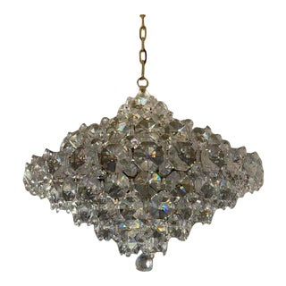 French Mid Century Schonbek Baronet Crystal Chandelier For Sale