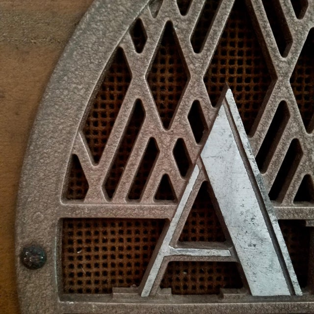 """Early brown Ampro speaker cabinet from 1946/47. Uses very large alnico top of the line Jensen 12"""" PM-12B, 1946, in great..."""