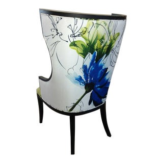 Modern Wingback Chair With Large Print Art