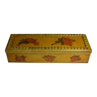 Vintage Roses Motif Decoupaged Hinged Wood Box