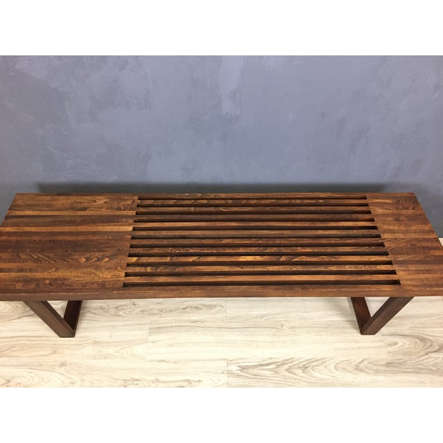 George Nelson Style Mid Century Bench/Coffee Table - Image 5 of 6