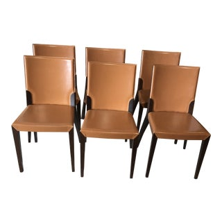 Leather Dining Chairs by Cattelan Italia - Set of 6 For Sale