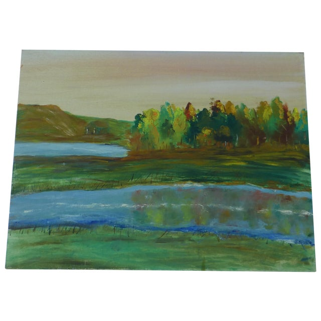 Tree Reflection Painting by H.L. Musgrave - Image 1 of 6