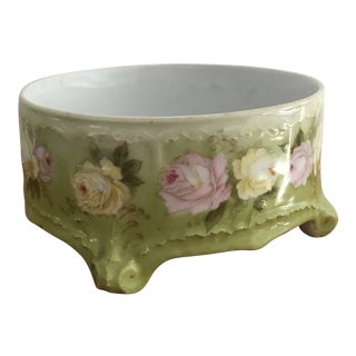 20th Century German Green Floral Plant Stand / Holder For Sale