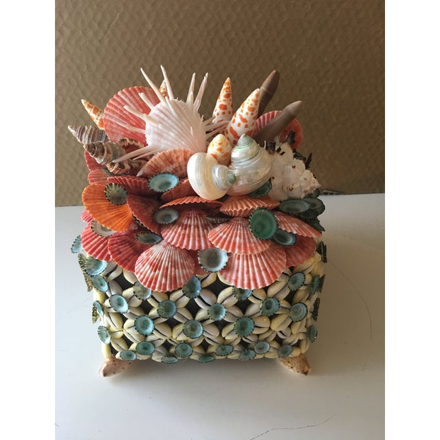 2020s Shelled Tea Basket Box With Lid by Coquillage Artist For Sale - Image 5 of 5
