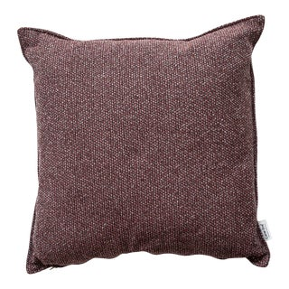 Cane-Line Wove Scatter Cushion, Square, Light Bordeaux For Sale