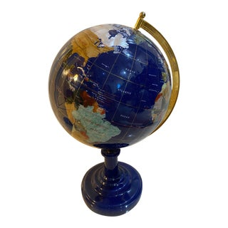1990s Stone & Mineral Globe For Sale