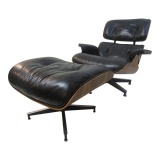 Charles Eames Rosewood for Herman Miller Chair and Ottoman